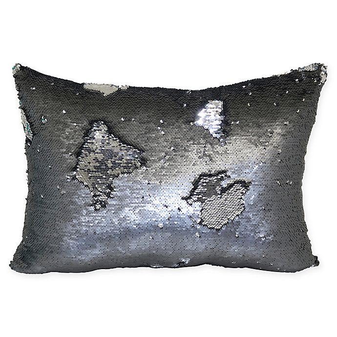 Alternate image 1 for Mermaid Sequin Throw Pillow in Pewter Silver