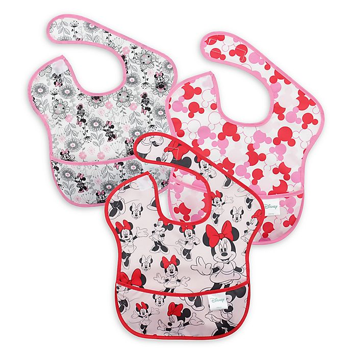 Alternate image 1 for Disney Baby 3-pack Minnie Mouse Waterproof SuperBib from Bumkins®