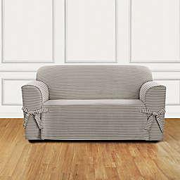 Sure Fit® Horizontal Stripe Loveseat Slipcover