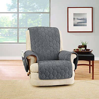 Sure Fit® Silky Touch Recliner Protector in Grey