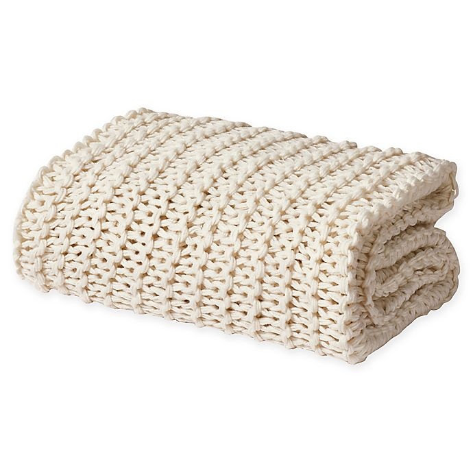 Alternate image 1 for Oscar/Oliver Luca Chunky Knit Throw Blanket