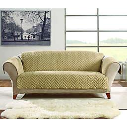Sure Fit® Faux Fur Sofa Protector in Blonde