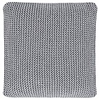 Oscar/Oliver Luca Square Throw Pillow in Grey