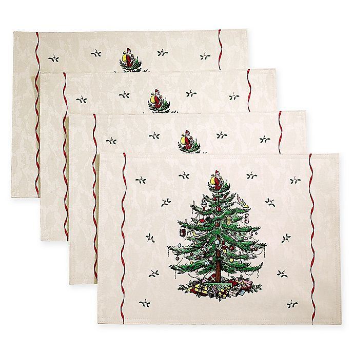 Alternate image 1 for Spode® Christmas Tree by Avanti Placemats (Set of 4)