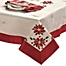 Part of the Creative Home Ideas Poinsettia Embroidered Tablecloth