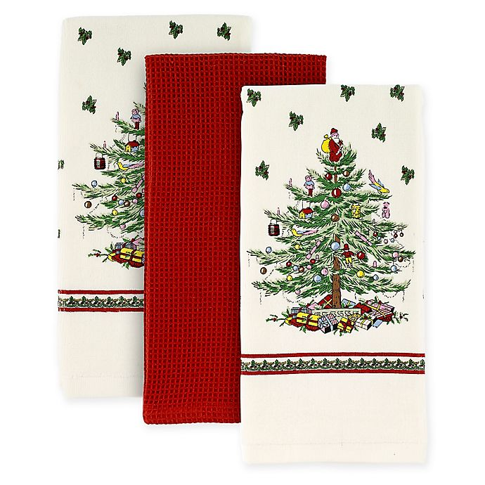 Alternate image 1 for Spode® Christmas Tree by Avanti Kitchen Towels (Set of 3)