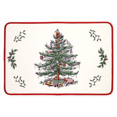 Spode Christmas Tree By Avanti 20 Inch X 30 Inch Memory Foam Kitchen Mat