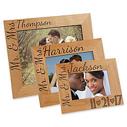 Our Wedding Date Picture Frame