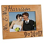 Our Wedding Date 5-Inch x 7-Inch Picture Frame
