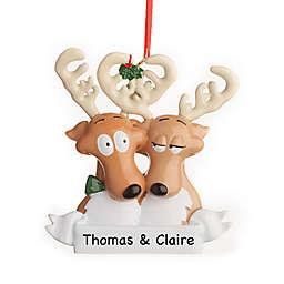 Reindeer Family of 2 Christmas Ornament