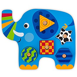 Stephen Joseph® Elephant-Shaped Wooden Peg Puzzle