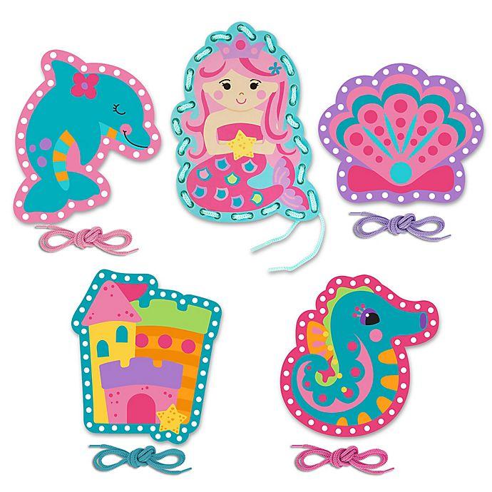 Alternate image 1 for Stephen Joseph® Mermaid/Ocean Lacing Cards