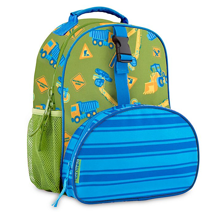 Alternate image 1 for Stephen Joseph® Construction Print Mini Backpack