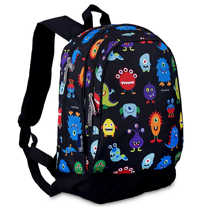 Alternate image 1 for Olive Kids™ Monsters Sidekick Backpack in Black
