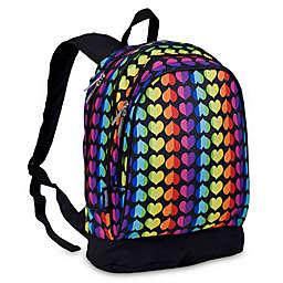 Wildkin Rainbow Hearts Sidekick Backpack in Black