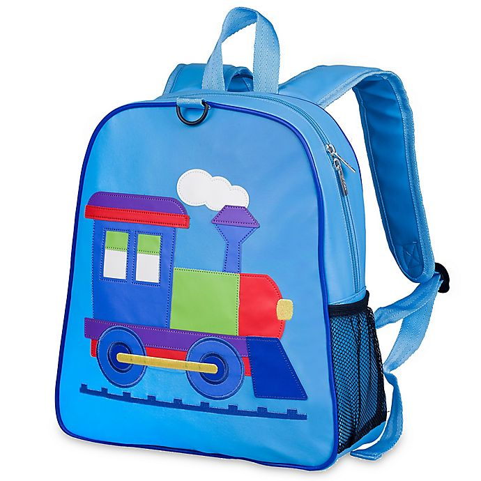 Alternate image 1 for Olive Kids™ Train Embroidered Backpack in Blue