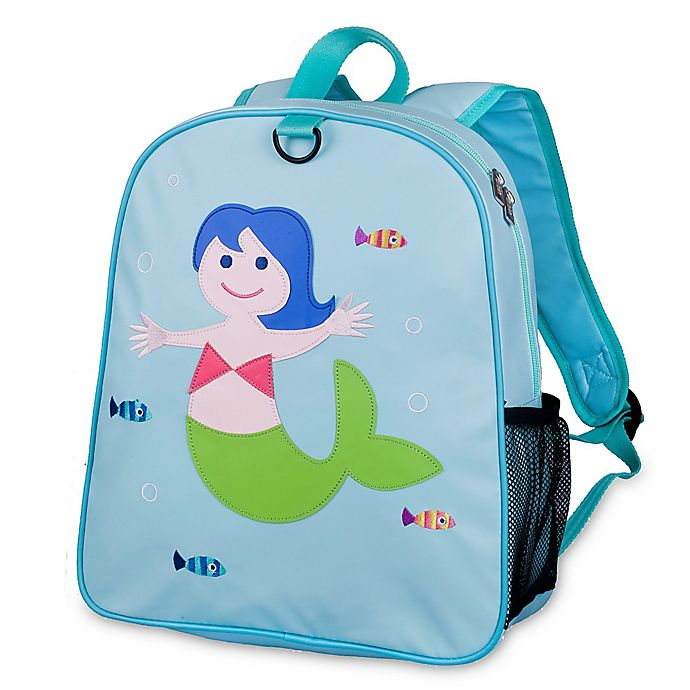 Alternate image 1 for Olive Kids™ Mermaid Embroidered Backpack in Blue