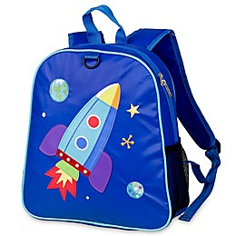 Olive Kids™ Rocket Embroidered Backpack in Blue