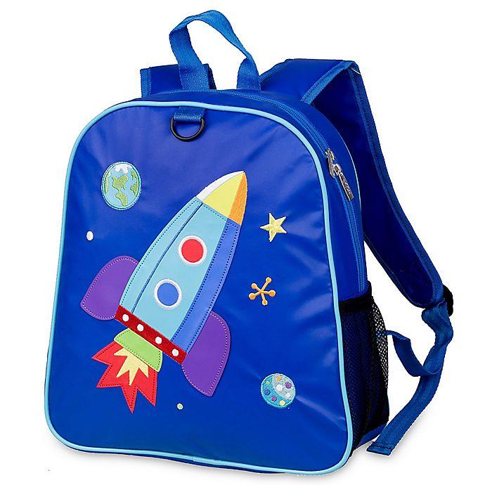 Alternate image 1 for Olive Kids™ Rocket Embroidered Backpack in Blue