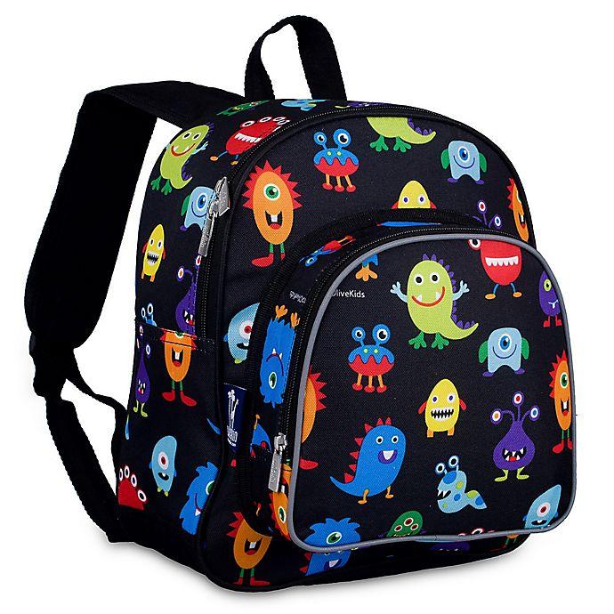 Alternate image 1 for Wildkin Monsters Pack 'N Snack Backpack in Black