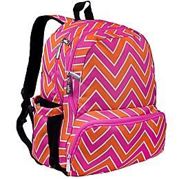 Wildkin Zigzag Pink Meegapak Backpack in Pink