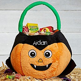 Dracula Pumpkin Plush Treat Bag