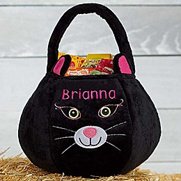 Black Cat Plush Treat Bag