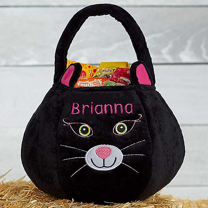 Alternate image 1 for Black Cat Plush Treat Bag