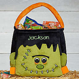 Frankenstein Embroidered Plush Treat Bag