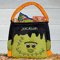 Frankenstein Embroidered Plush Treat Bag