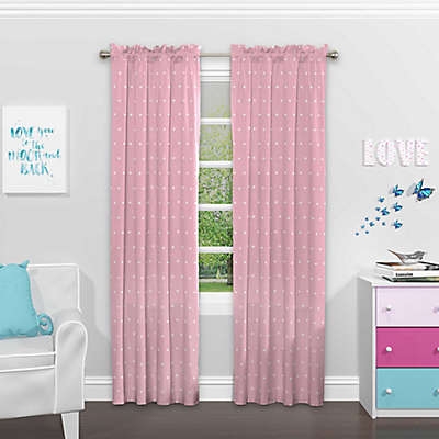 SolarShield® Cute Crowns Rod Pocket Room Darkening Window Curtain Panel
