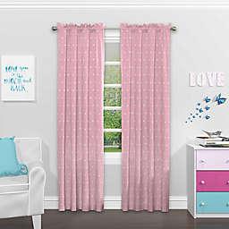 SolarShield® Cute Crowns Rod Pocket Room Darkening Window Curtain Panel