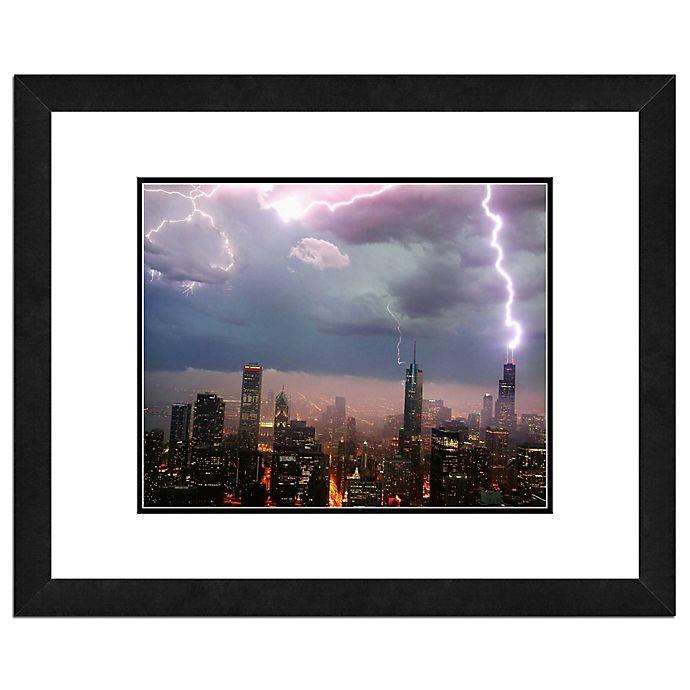 Chicago Skyline Storm 22 Inch X 26 Inch Framed Wall Art Bed Bath