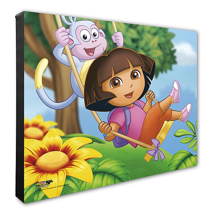 Alternate image 1 for Photo File Dora the Explorer Canvas 2 Wall Art