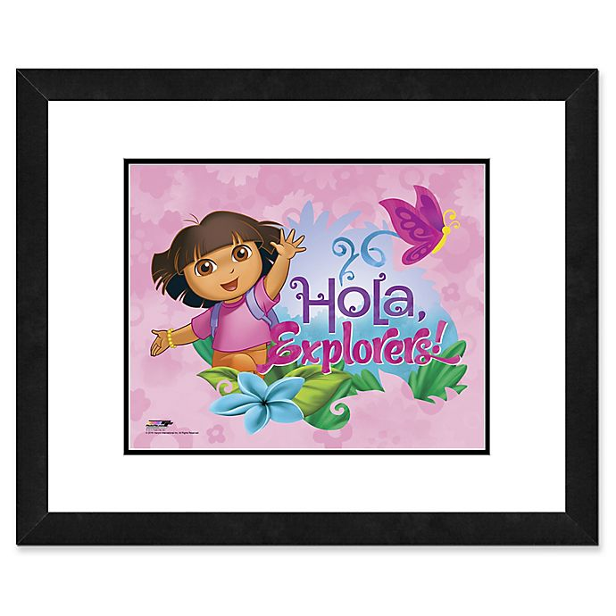 Alternate image 1 for Photo File Dora the Explorer III 22-Inch x 26-Inch Framed Photo Wall Art