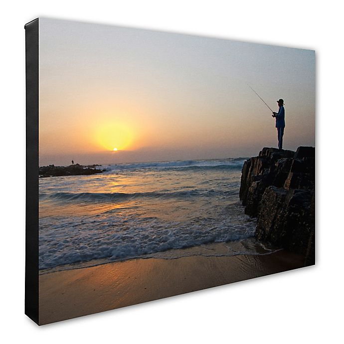 Alternate image 1 for Fisherman 16-Inch x 20-Inch Canvas Wall Art