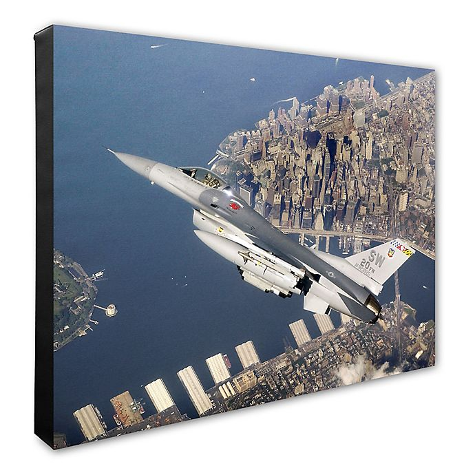 Alternate image 1 for F-16 Flying Falcon 20-Inch x 24-Inch Photo Canvas Wall Art