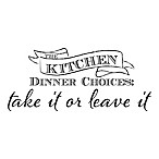 WallPops!®  Kitchen Dinner Choices: Take It or Leave It  Wall Decal