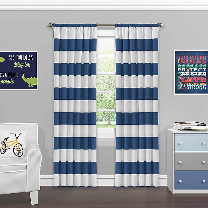 Alternate image 1 for Eclipse Peabody Rod Pocket Room Darkening Window Curtain Panel