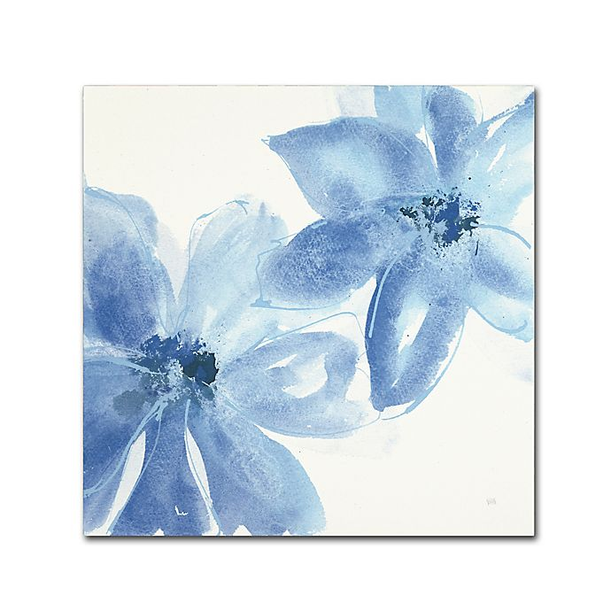 Alternate image 1 for Trademark Fine Art Cobalt Clematis II 14-Inch Square Canvas Wall Art