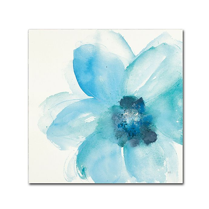Alternate image 1 for Trademark Fine Art Teal Cosmos II 14-Inch Square Canvas Wall Art