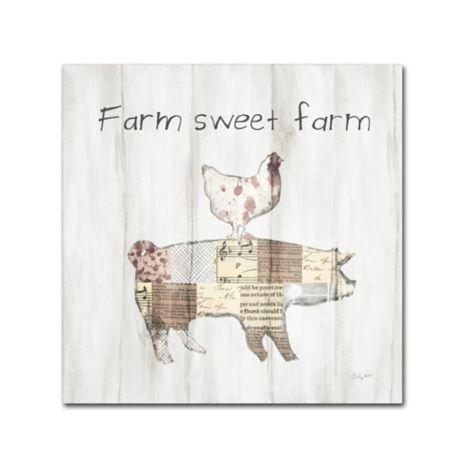 Farm Family VII Canvas Artwork 24 x 24 Global Gallery Courtney Prahl