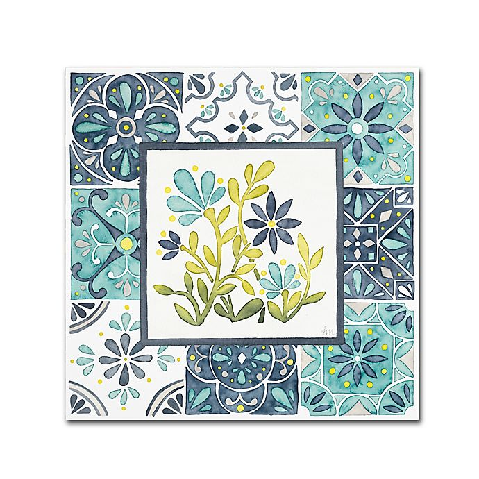 Alternate image 1 for Laura Marshall 'Garden Getaway Patchwork IV' 15-Inch x 20-Inch Canvas Wall Art
