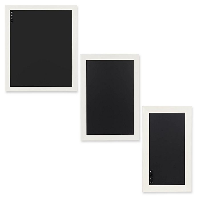 Kate And Laurel Beatrice Framed Magnetic Chalkboard In White