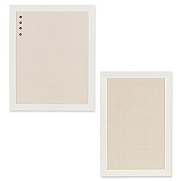 Kate and Laurel Beatrice Framed Fabric Pinboard in White
