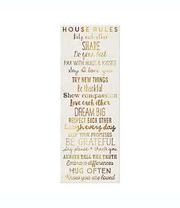"""Cuadro decorativo para pared """"House Rules"""" de 30.48 x 81.28 cm"""