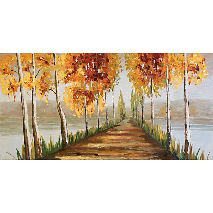 ren wil gold trees 30 inch x 60 inch canvas wall art bed bath beyond. Black Bedroom Furniture Sets. Home Design Ideas