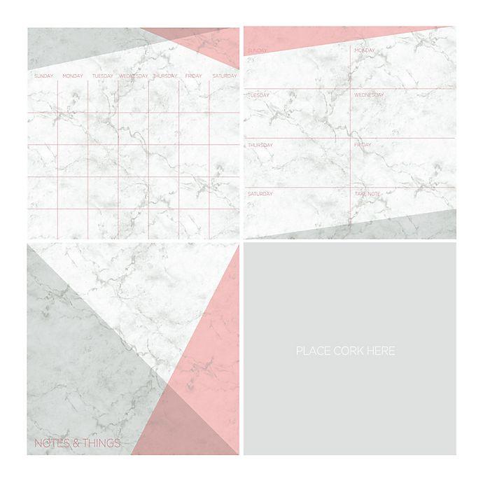 Alternate image 1 for WallPops!® 4-Piece Dry-Erase Organization Kit in Everest White