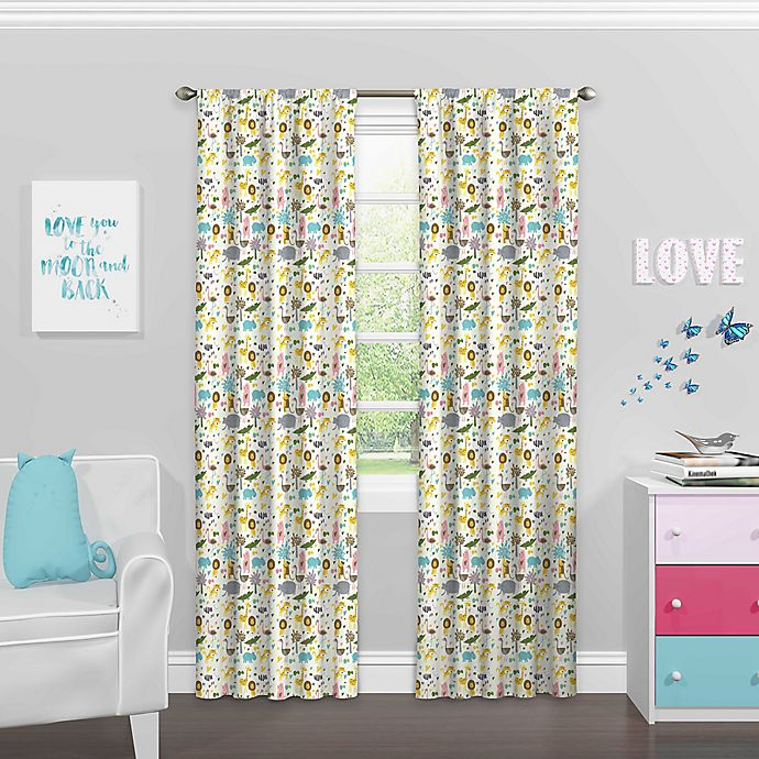Alternate image 1 for Eclipse Jungle Party Rod Pocket Room Darkening Window Curtain Panel