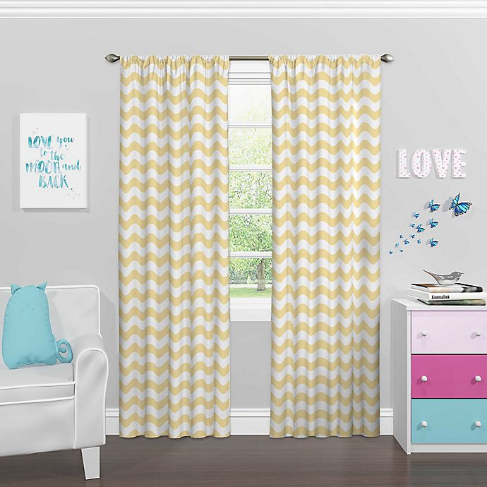 Alternate image 1 for Eclipse My Scene Rod Pocket Room Darkening Window Curtain Panel